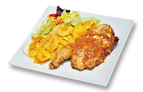 Pollo a la Cazuela con Ensalada